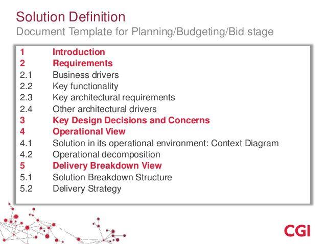 solution design document template - Google Search | BOK ...