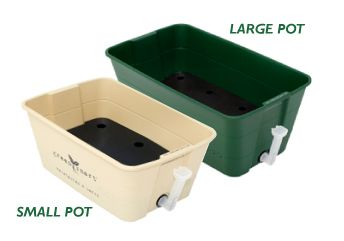 GreenSmart pots are the smarter way to grow. It makes growing vegetables and herbs simple. The self-watering potting system is a marriage of style and function that tackles the economic, environmental and health challenges of the 21st century.