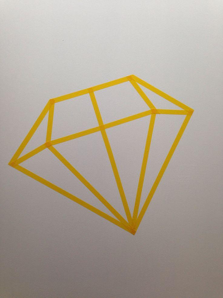 Washi tape diy diamond