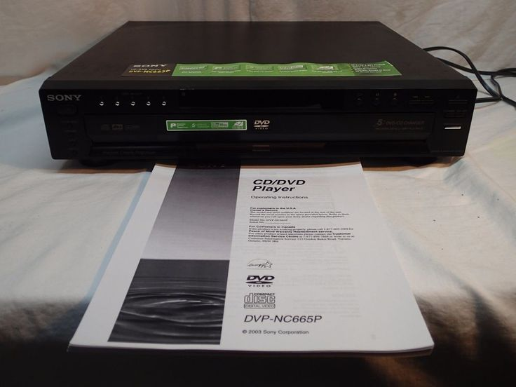 Sony DVD CD Video Player DVP-NC665P 5 Disc Changer Dolby Digital Cinema - Tested #Sony