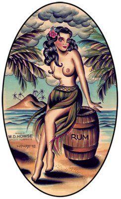 fuckyeahtiki:  Rum is Tiki sez I Art by Matt Howse (Spider Murphys Tattoo)
