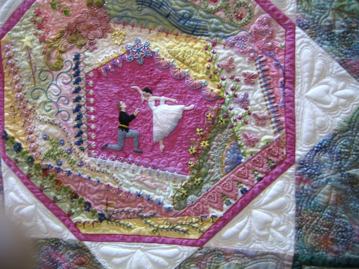 Best images about crazy quilts ribbon embroidery