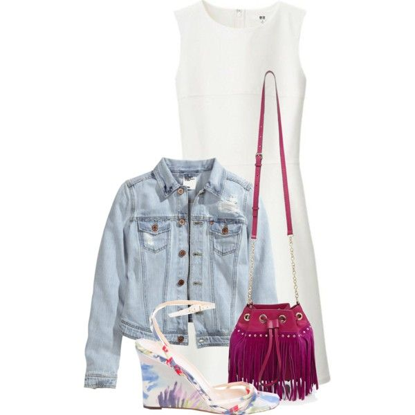 Untitled #227 by leehyena on Polyvore featuring Uniqlo, H&M, Kate Spade and Diane Von Furstenberg