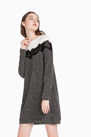 TWINSET Simona Barbieri :: FW16 :: Dresses :: Flower Brooch Dress :: KA62LC