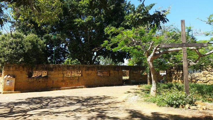 Esquina del cementerio. Barichara Santander