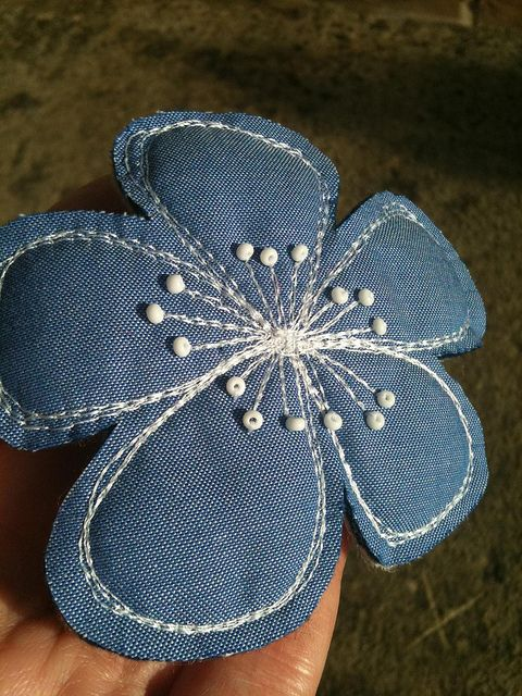 Big bloom from an upcycled shirt by DitsyBird, via Flickr