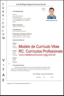 curriculo simples