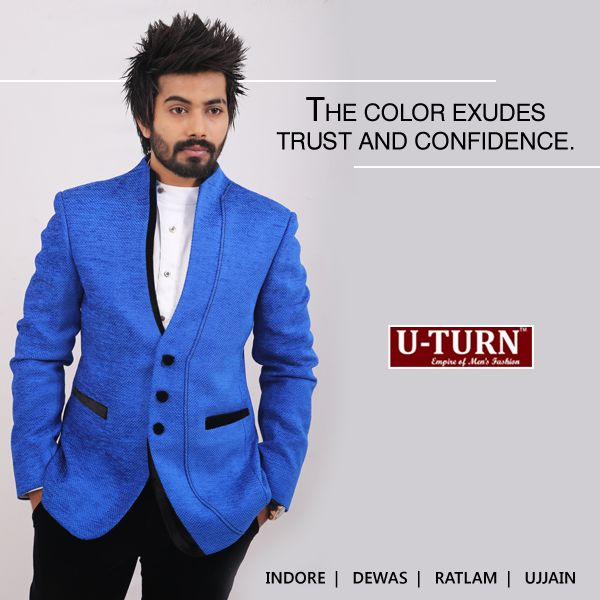 One of the best color coordinated outfit - Cool white shirt worn under a blue suit.