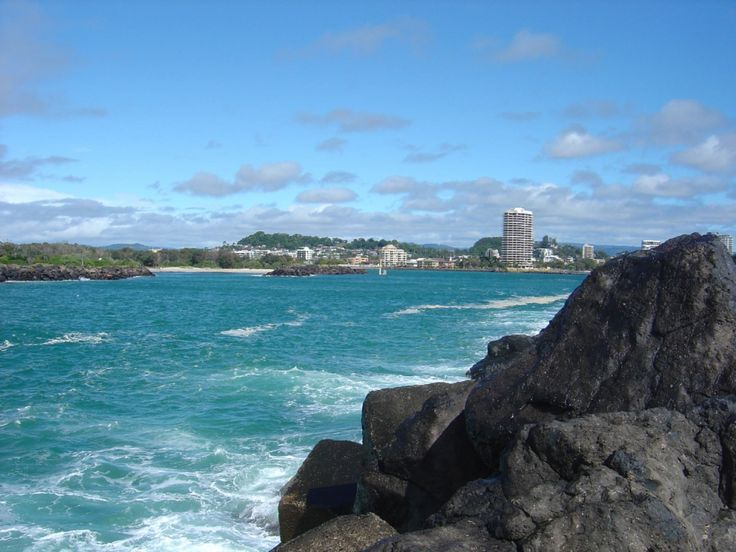 Tweed Heads, View from North Head of Tweed River, Coolangatta, Gold Coast, Australia
