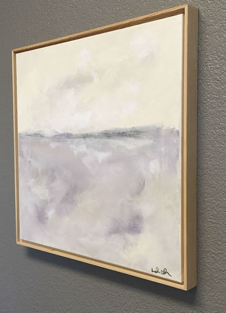 Soft lavender coastal abstract original painting by lindadonohue pretty artnorthern californiaoriginal paintingslavendercoastalart