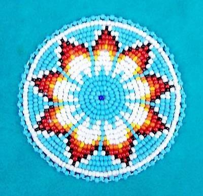 TURQUOISE-STARBURST-AMERICAN-INDIAN-BEADED-ROSETTE-3-INCH