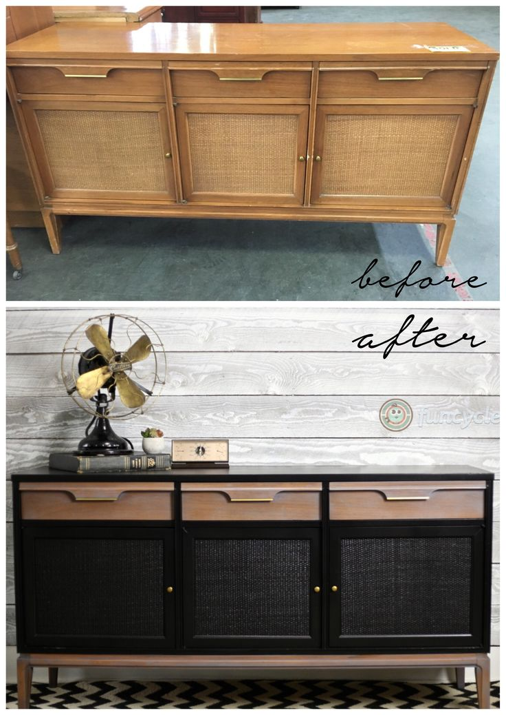 Mid Century Makeover! http://funcycled.com/projects/mid-century-makeover-tuesdays-treasures/ #midcenturymodern #funcycled #troyny #repurposedfurniture #upcycled #makeover #interiors #interiordesign #credenza #dresser