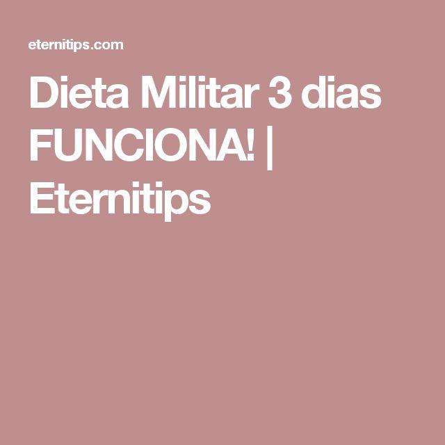 Dieta Militar 3 dias FUNCIONA! | Eternitips
