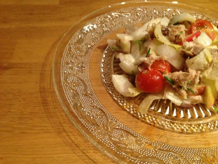 Salade met makreel, witlof, en appel!