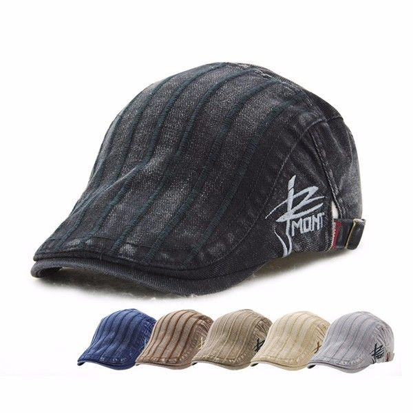 High-quality Men Cotton Washing Beret Cap Casual Outdoor Sun Visor Hat - NewChic Mobile version.