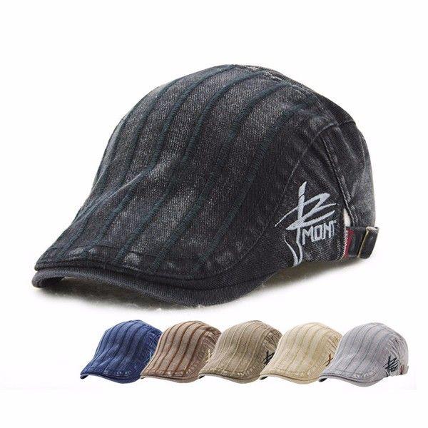 $8.95  High-quality Men Cotton Washing Beret Cap Casual Outdoor Sun Visor Hat - NewChic