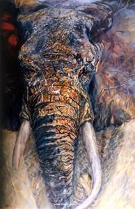 Elephant Paintings by Terry Lee