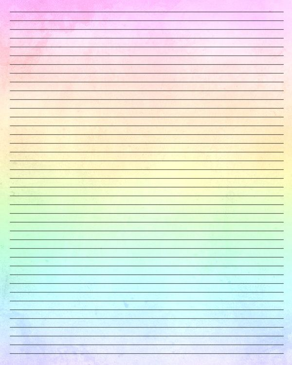 584 best Rainbow Theme Printables images on Pinterest Rainbow - printable writing paper template