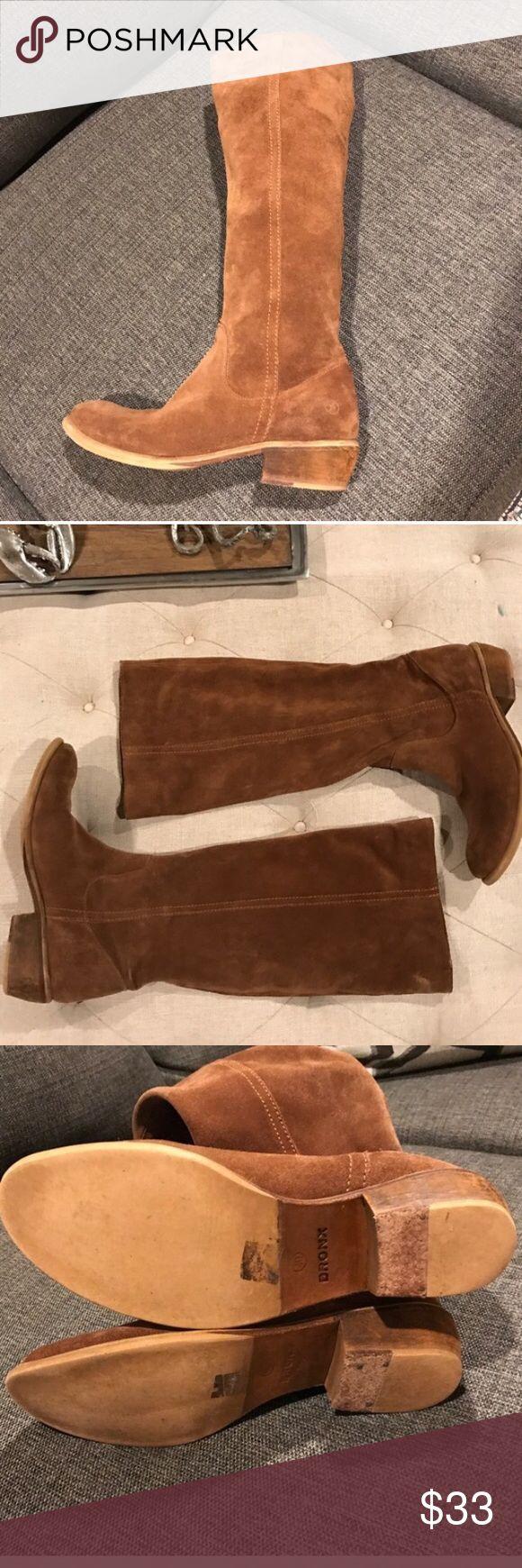 "Brown suede Bronx boots Brown suede Bronx boots wide calf 1.75"" heel 18"" tall 16"" circumference bronx Shoes Heeled Boots"