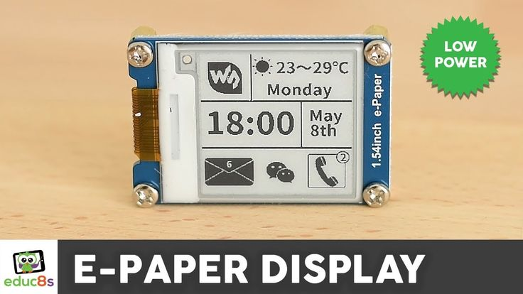 """Arduino E-Paper Display Review ( Waveshare 1.54"""") - YouTube"""