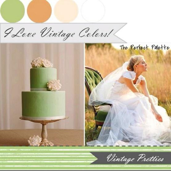 Mint en perzik, perfecte kleurencombinatie voor een vintage bruiloft