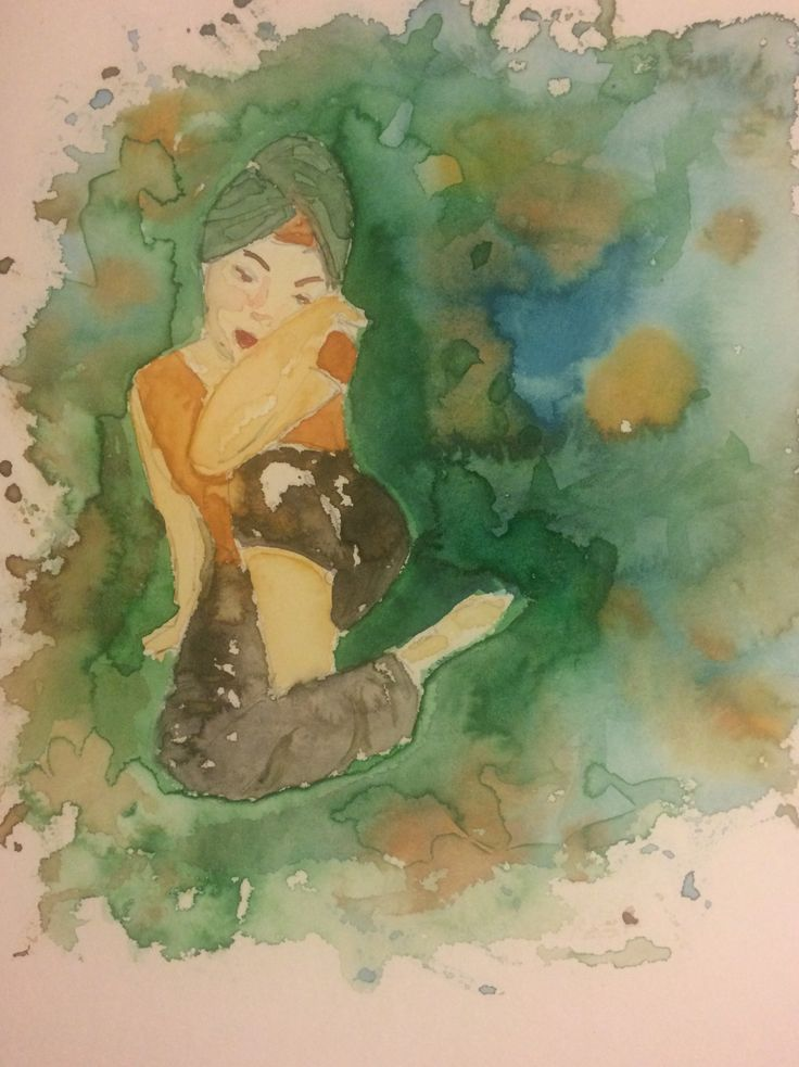 Woman -Watercolor painting