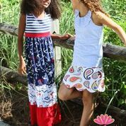 Stars, Stripes and Anchors Boho Maxi Dress for Girls