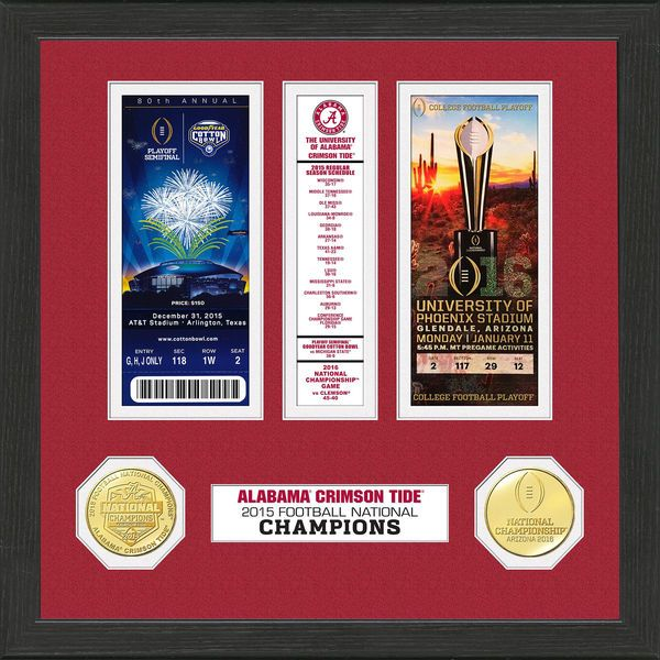 Alabama Crimson Tide Highland Mint College Football Playoff 2015 National Champions Ticket Collection - $49.99