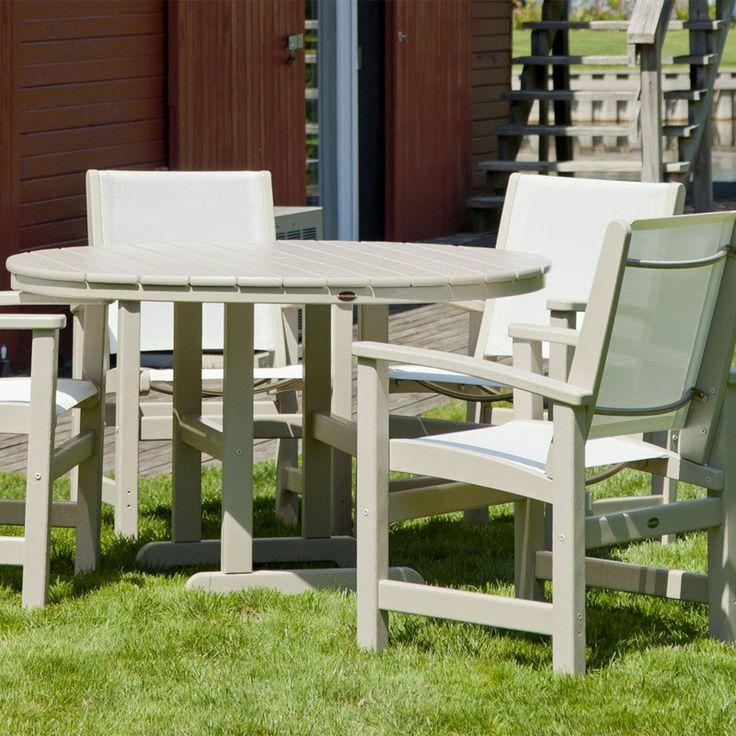 Polywood Coastal 4-Seat Round Dining Set | Polywood ...
