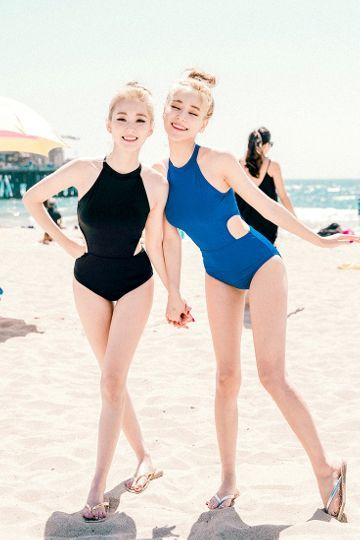 Blue Hawaiian Bikini | Korean Fashion