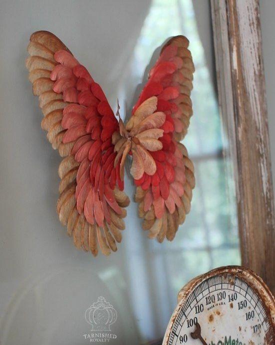 Maple+Seed+Butterfly+Art