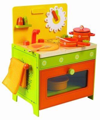 Cuisinière en bois Nature&Découverte - Sélection de cadeaux pour les enfants de 0 à 10 ans
