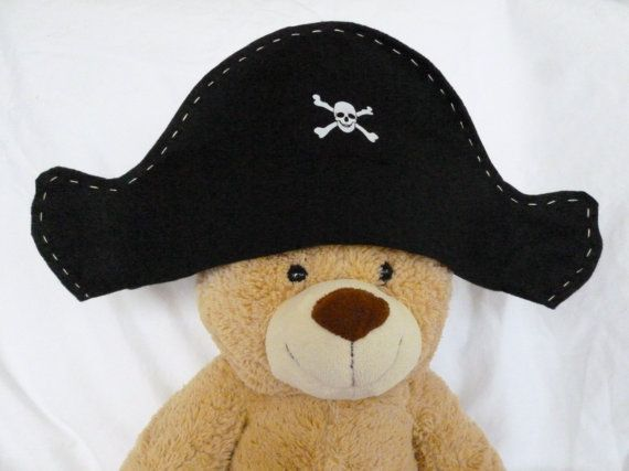 Felt Pirate Hat Kid's Pirate Hat Dress Up by FranconiaRidgeStudio, $5.00