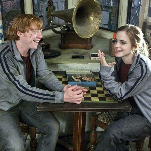 Emma and Rupert BTS