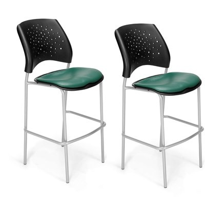 OFM 328 Stars Vinyl Cafe Height Chair (Set of 2)