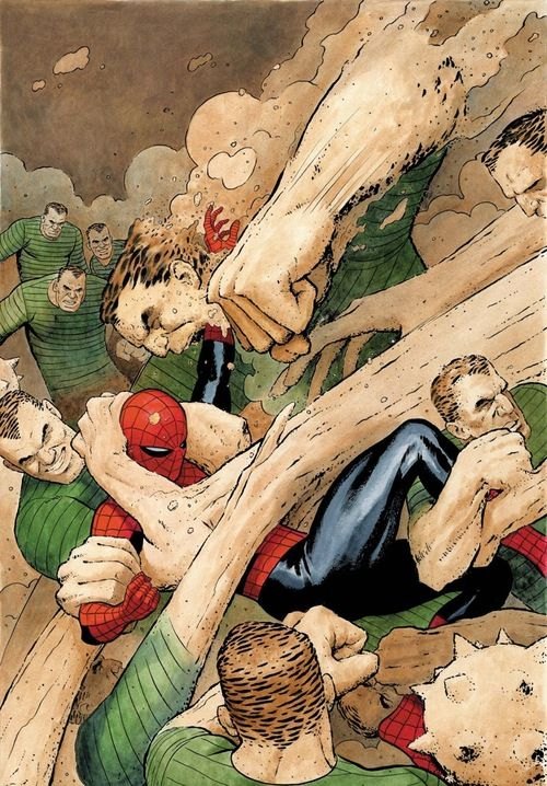 Spidey vs. Sandman by Paolo Rivera