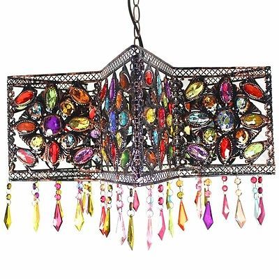 45x27cm Bright Star Shaped Moroccan Ceiling Light with Acrylic Beads and Gems | eBay