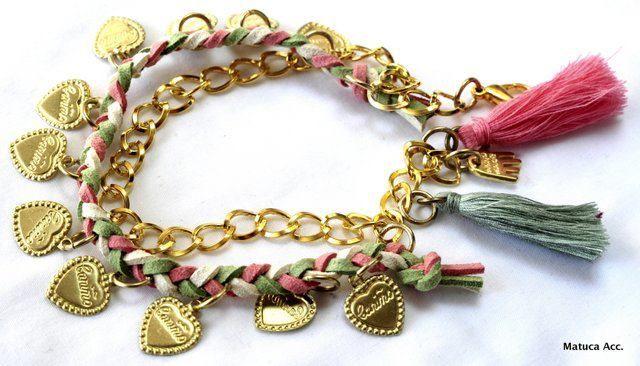 Pulsera de corazones de Matuca accesorios en Accesorios Pulseras - Me Gusta Tutti