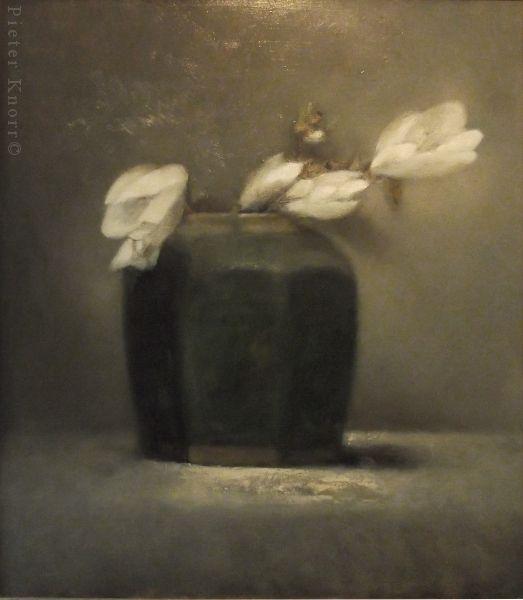 """Pieter Knorr, """"Magnolia"""", Olieverf op paneel, 2015"""