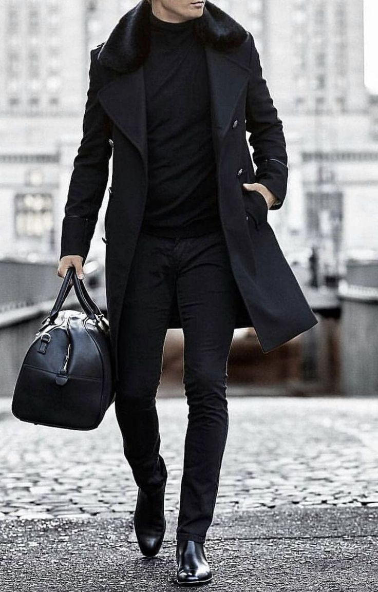 30+ Attractive All Black Winter Outfit Ideas