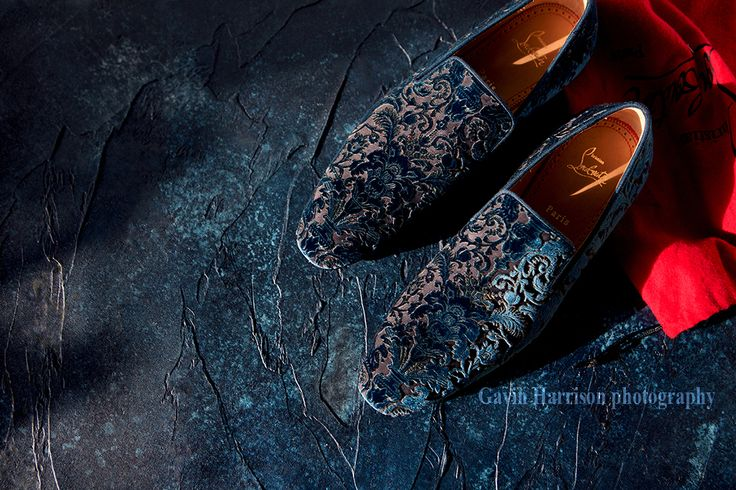 Gavin Harrison photography still life shot of Christian Louboutin loafers.