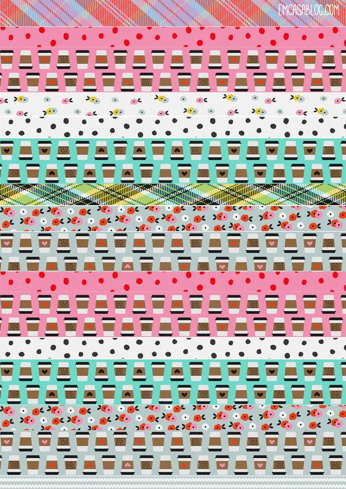 Em Casa Blog: Free Printable Washi Tape