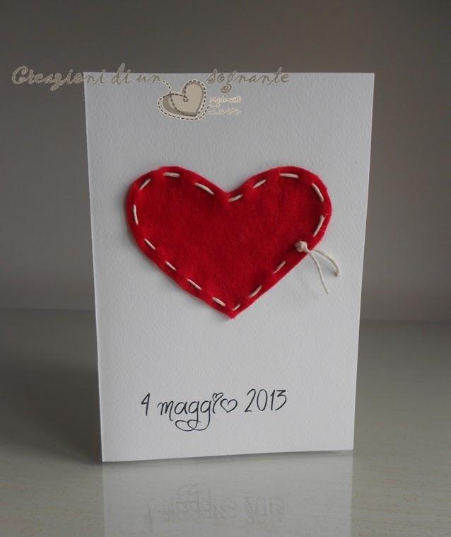 Creazioni di un cuore sognante: Biglietti di auguri per matrimonio - wedding card