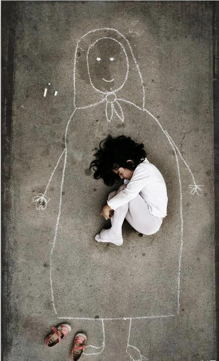 This breaks my heart!  A child's need of his mother is so deep!