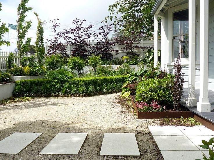 Path to the front door in honed terrazo pavers set in pathway lime | A garden for all seasons ~ Beauchamp, HEDGE Garden Design & Nursery