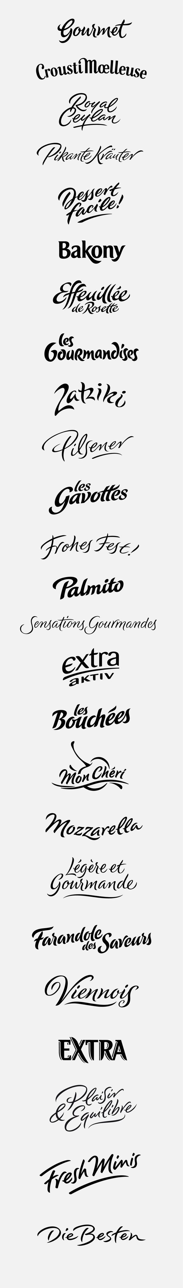 logotypes: foody, appetizing by Peter Becker, via Behance