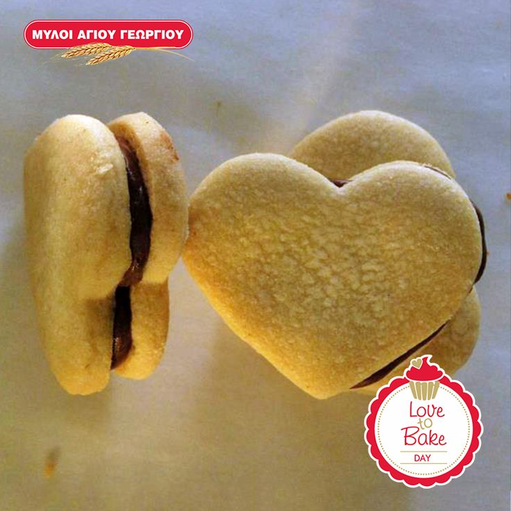 Αφράτα μπισκότα γεμιστά με σοκολάτα