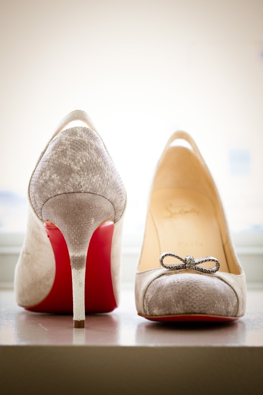 Style me pretty just can't stop with the great. Louboutin wedding shoes.