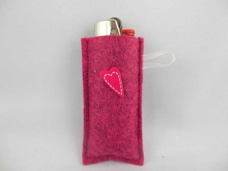 Etui à briquet en feutrine décorer et coloré : Autres accessoires par logique