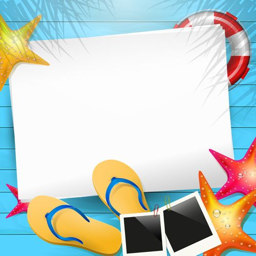Happy summer holidays elements vector background 02